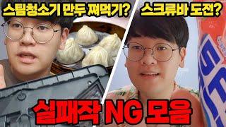 스팀청소기로 만두 쪄먹기 가능? 실패작 최초공개!