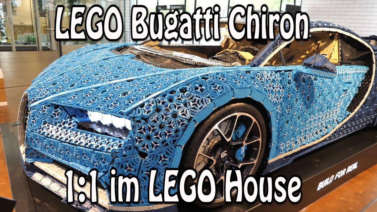 lego bugatti chiron 1 1 modell im lego house billund youtube. Black Bedroom Furniture Sets. Home Design Ideas