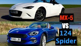Mazda MX-5 vs Fiat 124 Spider - Inside Lane