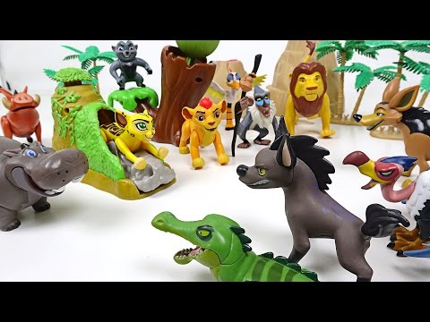 The Lion Guard Go! Save your friends! Hyena and Crocodile Eagle have appeared! - DuDuPopTOY