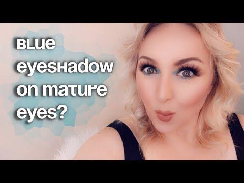 BLUE EYESHADOW ON MATURE EYES? | WHY NOT! thumbnail
