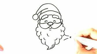 Как се рисува дядо Коледа 🎍Лесен начин