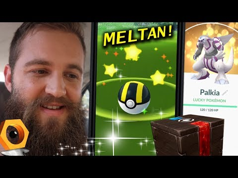 THE SEARCH FOR SHINY MELTAN + MY LUCKY COLLECTION (POKEMON GO) thumbnail