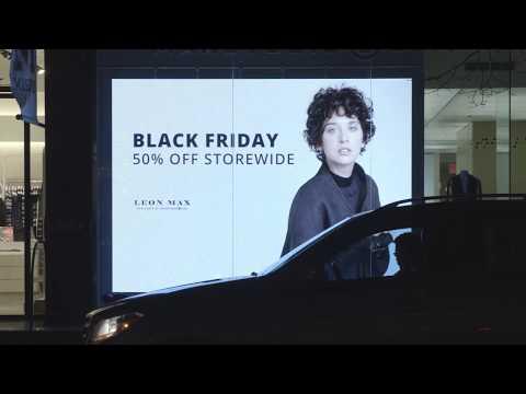 Greenwich Village, Manhattan, NY, Black Friday, Night,  Canon XC 10