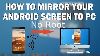How to mirror mobile screen on pc  laptop easy way { no root}   {hindi}
