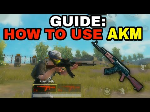 (Hindi)HOW TO PROPERLY USE THE AKM IN PUBG MOBILE   PUBG MOBILE AKM GUIDE