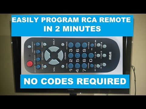 RCA Universal Remote (RCR504BR) Programming For TV
