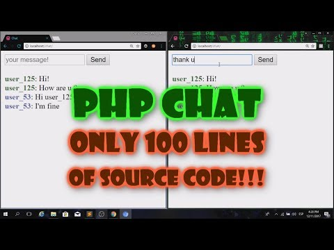PHP CHAT In Only 100 Lines Of Code