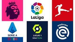 Top 5 Football Leagues Intro (Premier League, La Liga, Serie A, Ligue 1, Eredivisie)