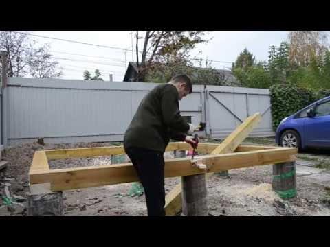 видео: Сарай своими руками. Обвязка фундамента. Часть 4.