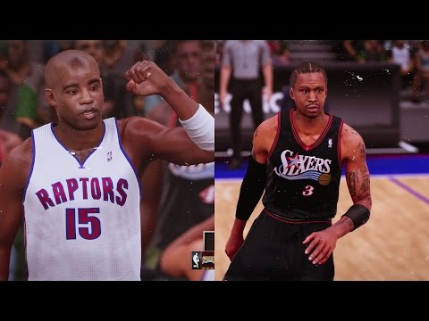 NBA 2K16 - Vince Carter Toronto Raptors vs Allen Iverson Philadelphia 76ers