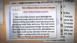 Choose For Fort Myers Real Estate Lawyer