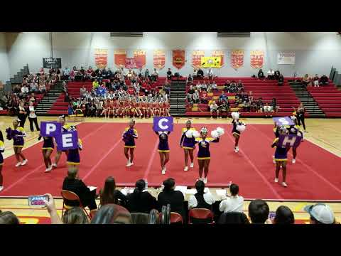 Prince Edward County High School at 2A Regional Cheerleading Competition 2018