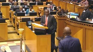 Cyril Ramaphosa Mocking Mmusi Maimane In Parliament