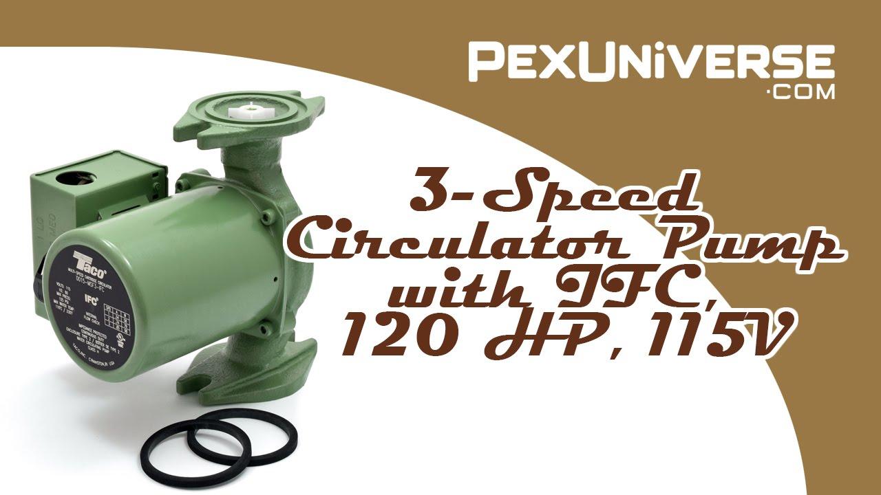 0015 3 Speed Circulator Pump With Ifc 1 20 Hp 115v Youtube Taco 00 Wiring