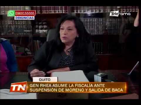 Gen Rhea asume la fiscalía ante suspensión de Moreno y salida de Baca