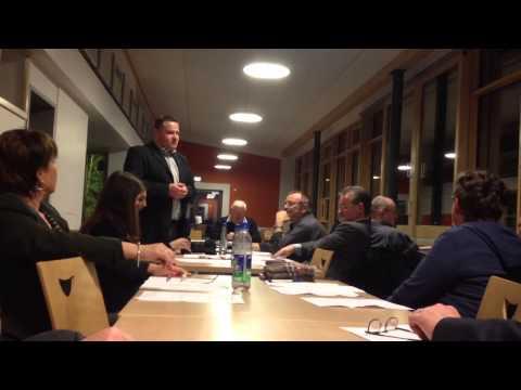 Thorsten Schulz - Vorsitzender der SPD Abteilung Laatzen - die Rede vor der Wahl