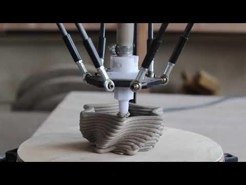 3d печать керамикой - художественная видео-зарисовка