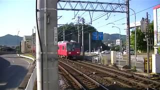 【引退済み】名鉄5702F+名鉄5309F犬山検査場送り込み回送 犬山遊園通過