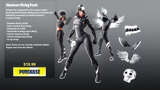 Ombres nouvelles Rising Skin Bundle..! (Fuite Showcase) Fortnite Bataille Royale
