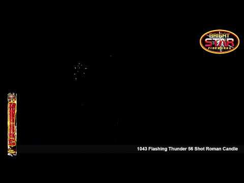 Bright Star Flashing Thunder 56 Shot Roman Candle Firework