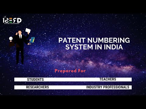 Patent Numbering System in India