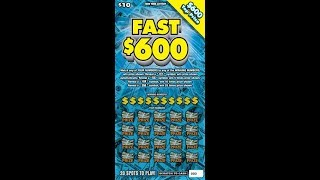 $10 -FAST $600 - NEW - Lottery Bengal Scratching Scratch Off instant win tickets