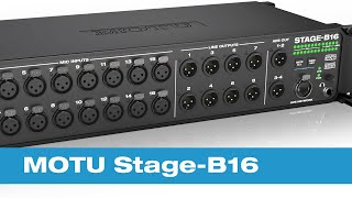 Das MOTU Stage B16 – Interface, digitales Mischpult und Stagebox