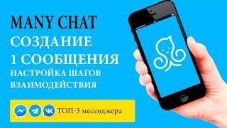 Many Chat Урок 2  Настройка первого сообщения и отдельных цепочек