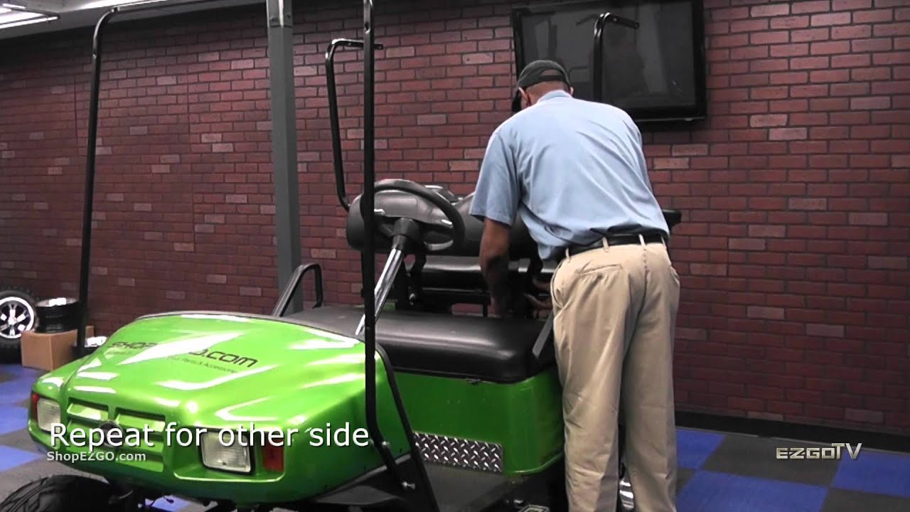 E Z GO® Golf Cart Top For 4 Pass TXT/ST 80 Inch | How To Install Golf Cart  Accessories | E Z GO® TV   YouTube