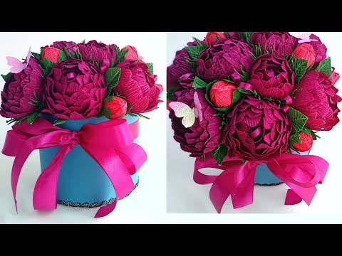 bouquet-of-candy-/-paper-peonies-/-flowers-in-a-paper-/-diy-box