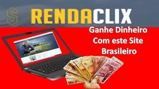 Site Ptc RendaClix pagando em 2017  Melhor site PTC para Ganhar Dinheiro Rápido no Paypal
