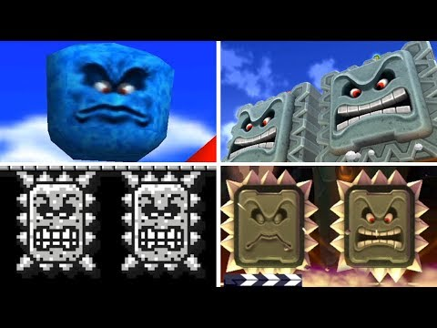 Evolution of - Thwomp in Super Mario Games