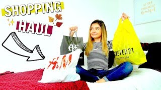 Girls Outfits FALL Shopping Haul | Forever 21 Abercrombie & Fitch H&M