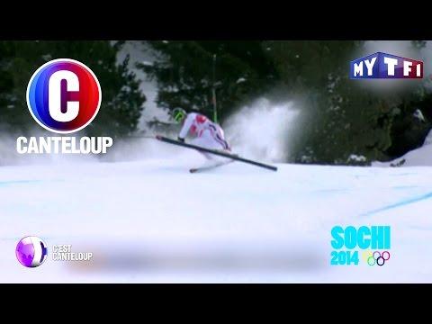 C'est Canteloup - Gérard Depardieu s'essaye au ski aux Jeux Olympiques
