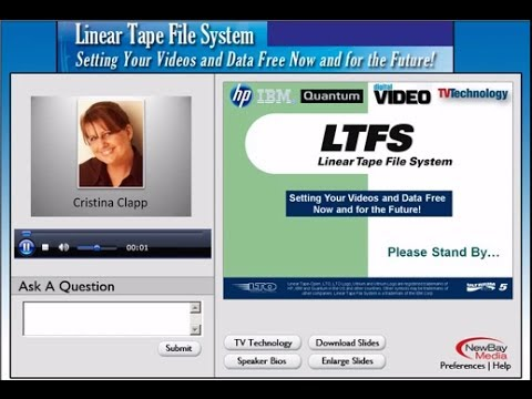 Linear Tape File System (LTFS): Setting Your Videos and Data Free Now and for the Future!