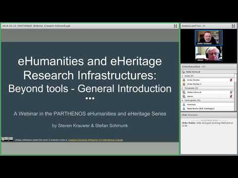 e-Humanities and e-Heritage Research Infrastructures: Beyond tools