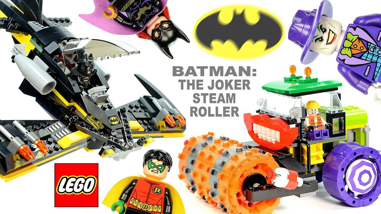 lego batman the joker steam roller 76013 w the batwing. Black Bedroom Furniture Sets. Home Design Ideas