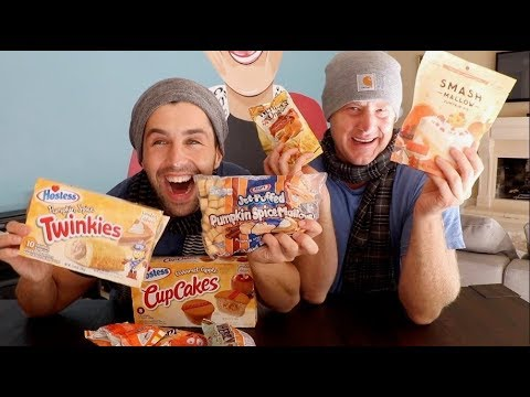 PUMPKIN SPICE MUKBANG! (TWINKIES! CUPCAKES! COFFEE! JASON!)