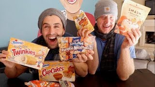 PUMPKIN SPICE MUKBANG! (TWINKIES! CUPCAKES! COFFEE! JASON!) thumbnail