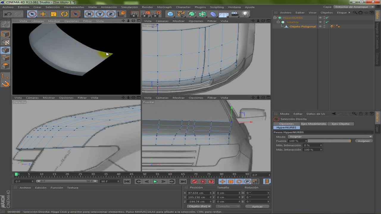 Cinema 4d modeling car part 1 youtube malvernweather Choice Image