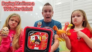 Buying Madison a TV in Her Color! Opening FGTEEV Giant TV Toy!!!