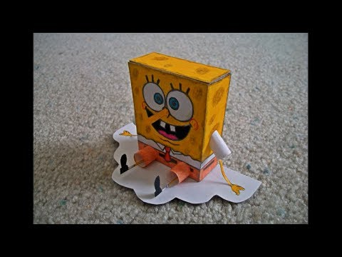 Papercraft Paper Model of Spongebob Squarepants