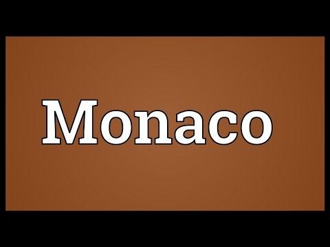 Monaco Meaning