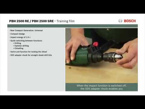 Voorkeur Bosch PBH 2500 RE / PBH 2500 SRE Ciocan rotopercutor, 600 W - YouTube WN45
