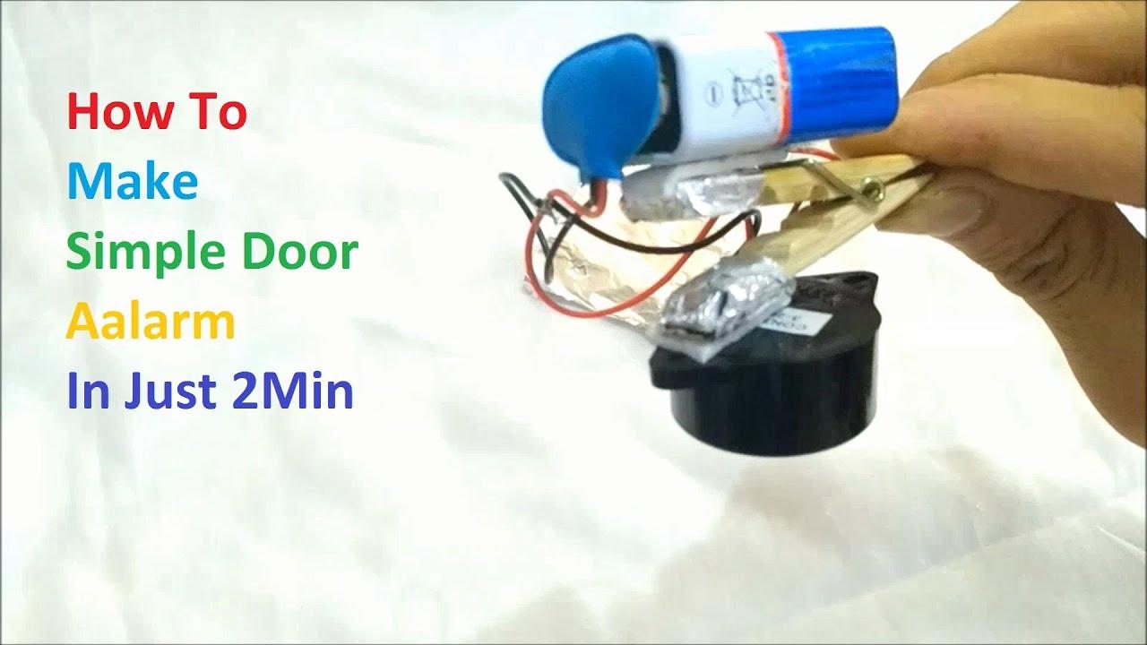 How to Make Simple Door Alarm In Just 2 min | DIY Make ...