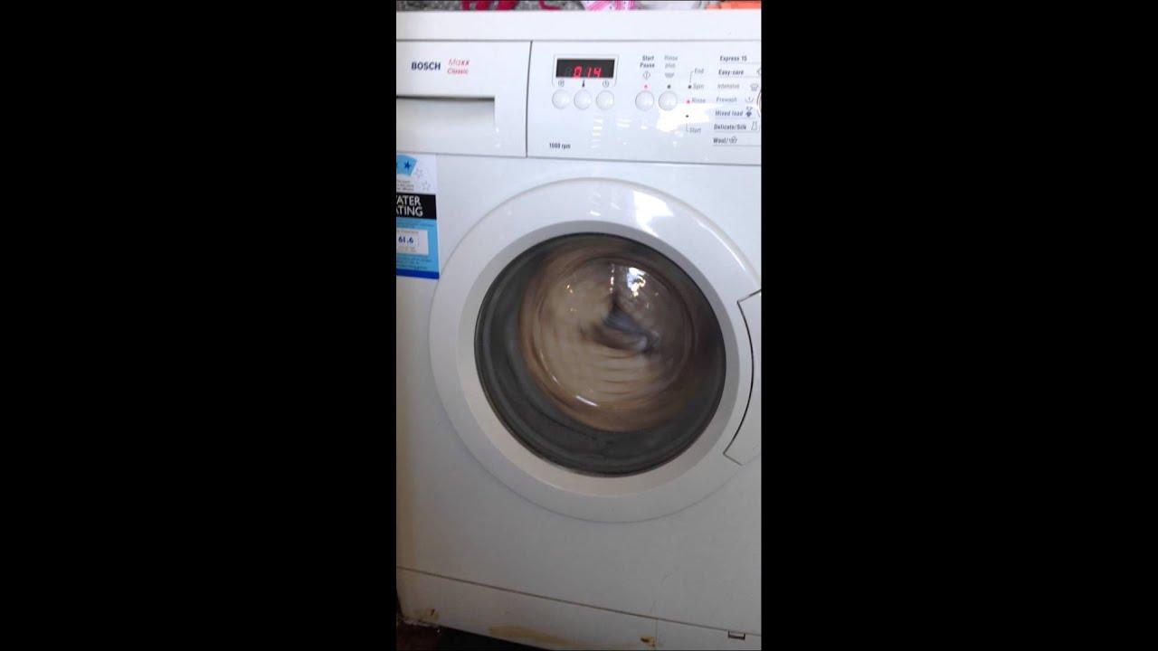 bosch maxx classic washing machine making a racket youtube. Black Bedroom Furniture Sets. Home Design Ideas