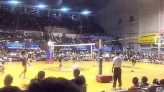 141028 unigames volleyball finals w dlsu nu set 3 6