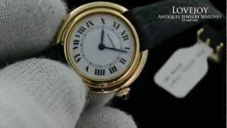 Rare Cartier 18k Manual Wind Ladies Vendome Watch