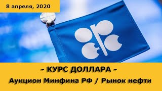 Курс доллара / Рынок нефти / Минфин РФ объявил аукцион по размещению ОФЗ